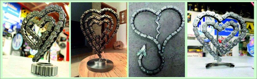 Как сделать подарок на День святого Валентина своими руками - сердце из велосипедной цепи