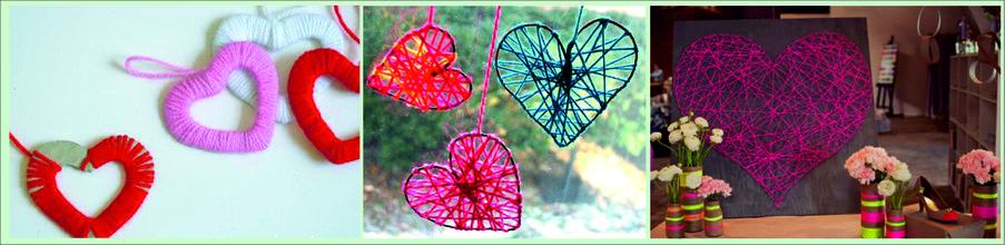 Как сделать подарок на День святого Валентина своими руками - сердце из ниток
