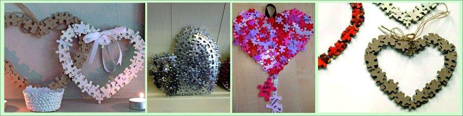Как сделать подарок на День святого Валентина своими руками - сердце из паззлов
