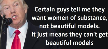 Certain guys tell me they want women of substance, not beautiful models. It just means they can't get beautiful models. (New York Times, 19/9/99)