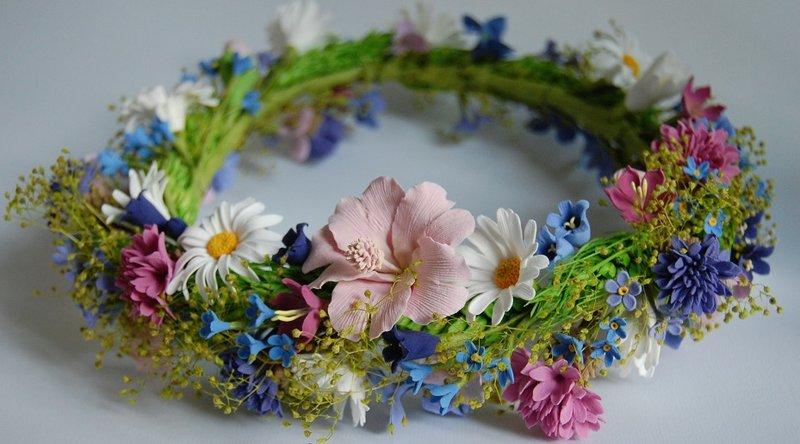 Венок с цветов для головы своими руками